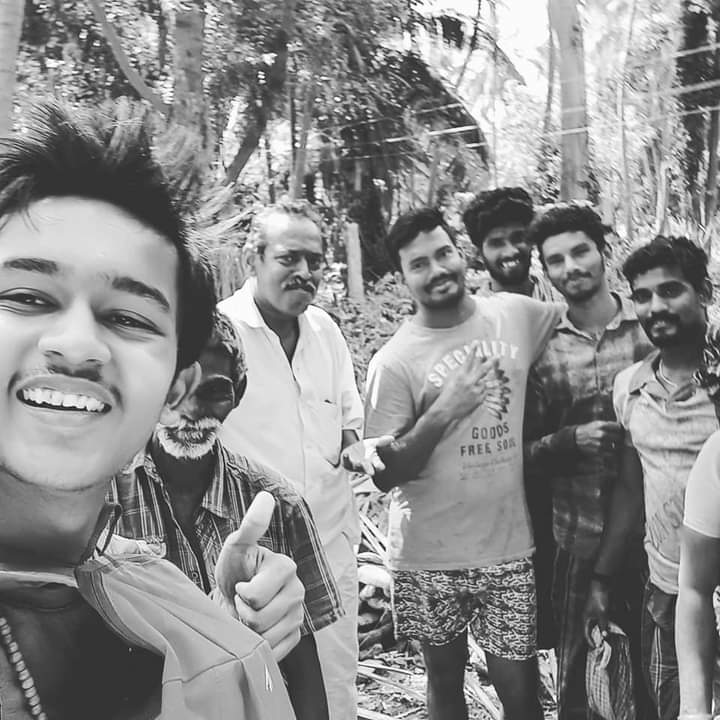 I randomly got to meet this uncle in a white shirt when I was walking on the banks of river Cauvery in a small village He gave me food and amazing your of his coconut farm and loved like anything Also I volunteered and helped him for some duration!